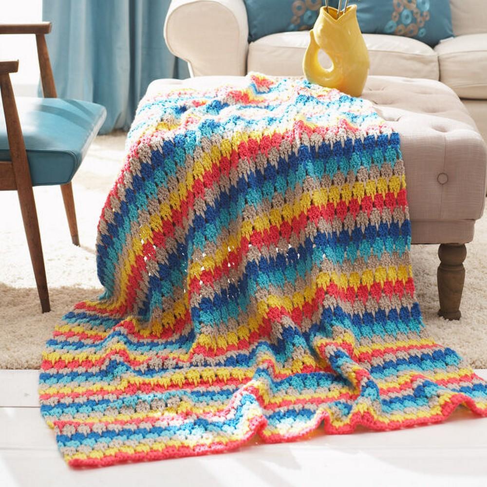 Free Crochet Larksfoot Blanket Pattern