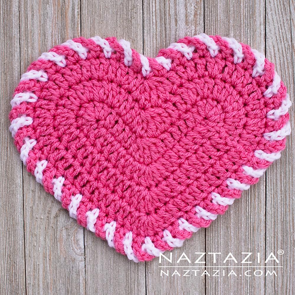 Free Crochet Light Heart Dishcloth Pattern