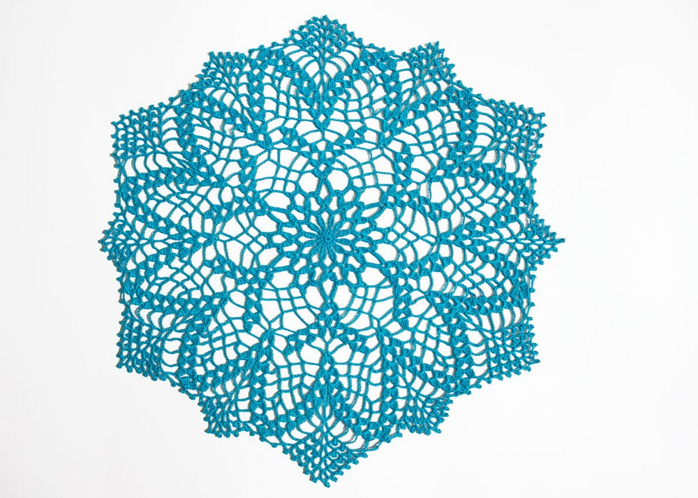 Free Crochet Pond Lily Doily Pattern