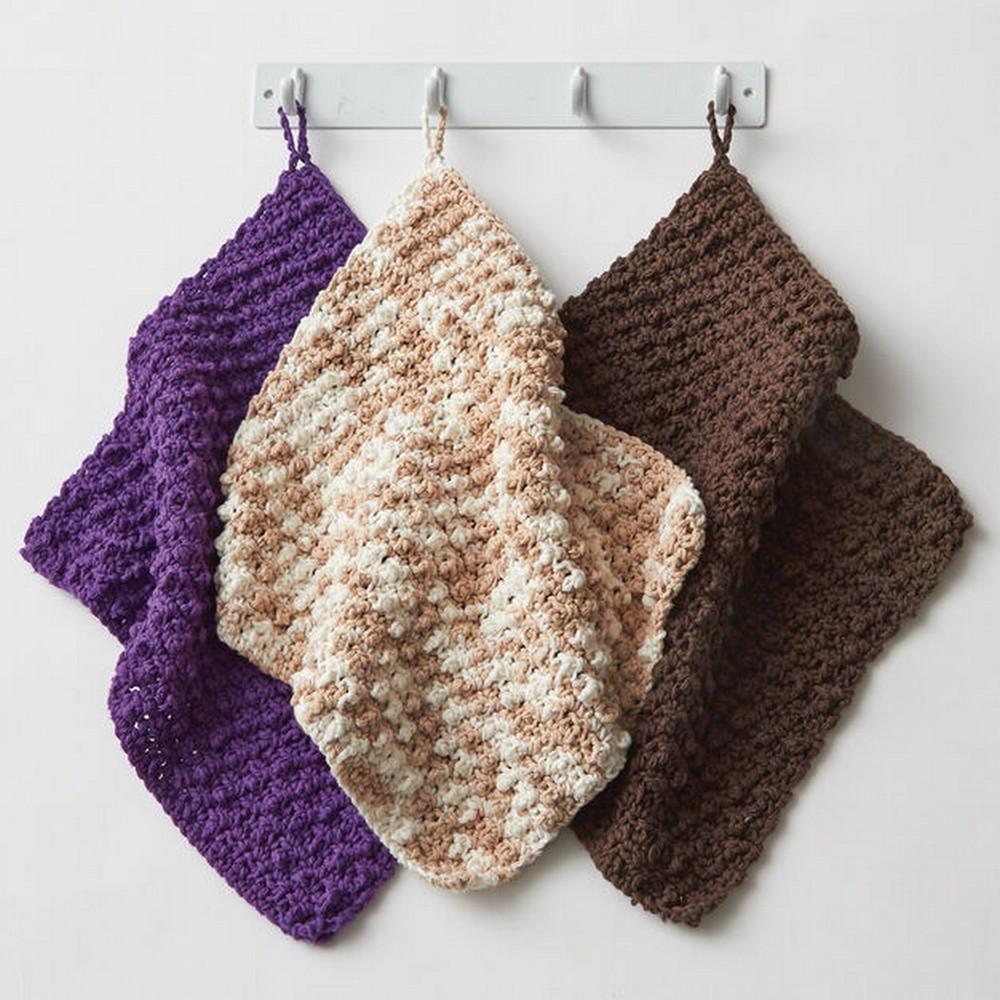 Free Crochet Speedy Texture Dishcloth Pattern