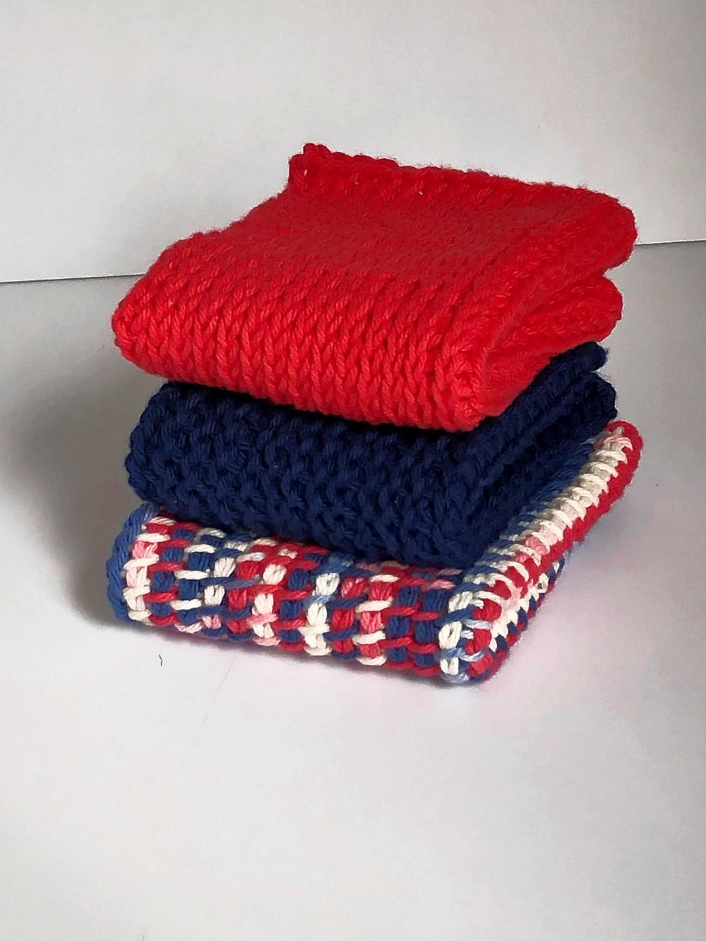 Free Crochet Tunisian Tks Dishcloth Pattern