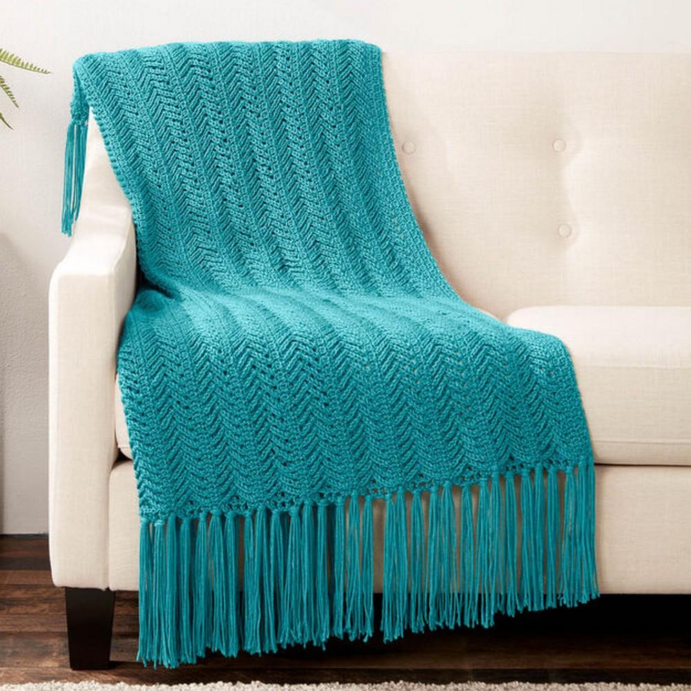 Free Crochet Vertical Herringbone Blanket Pattern