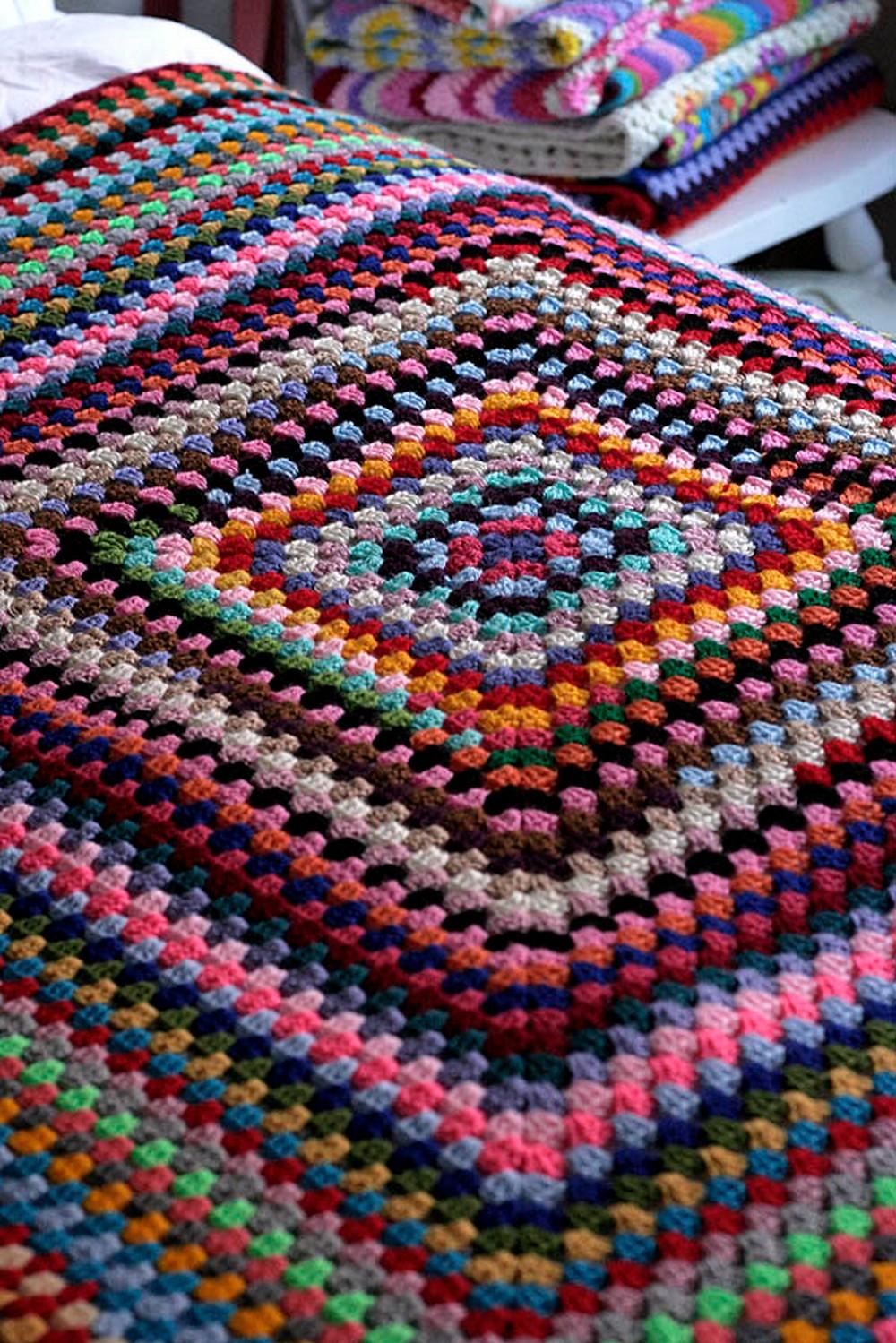 Giant Granny Square Crochet Blankets