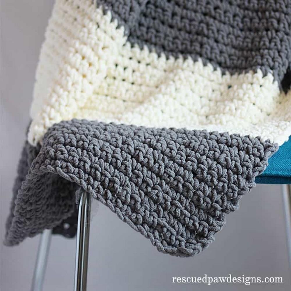 Granite Crochet Throw Blanket