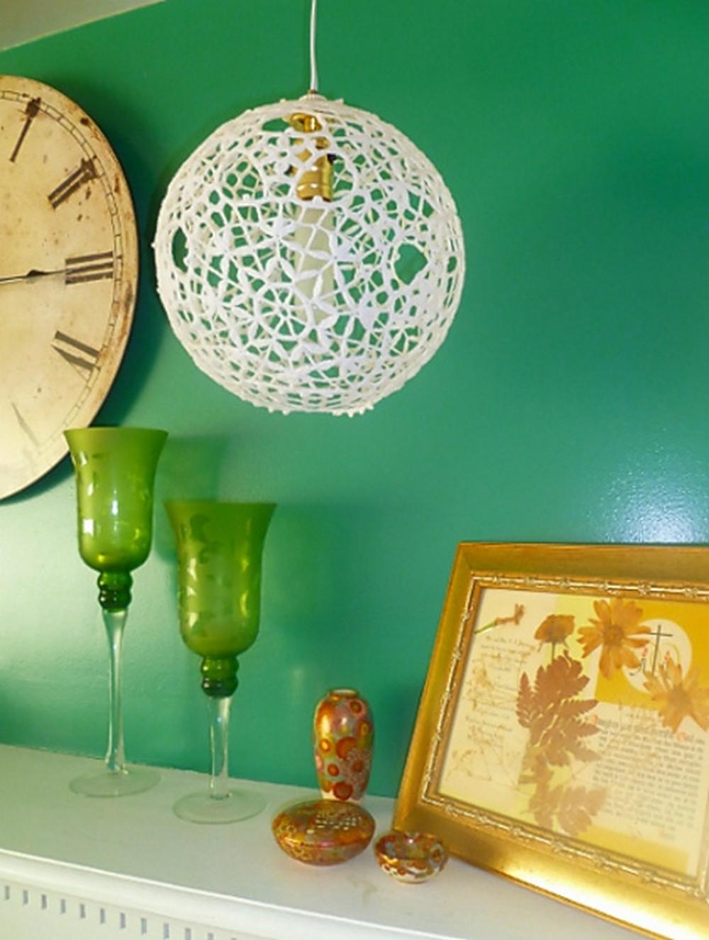 Lacey Japanese Lantern Lampshade Crochet Pattern