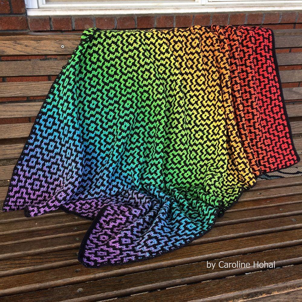 Nya Mosaic Blanket - Free Crochet Pattern