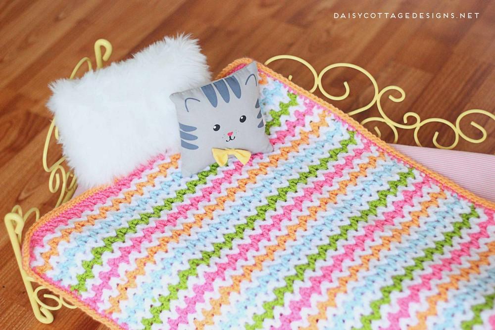 Pretty V-Stitch Crochet Blanket Pattern