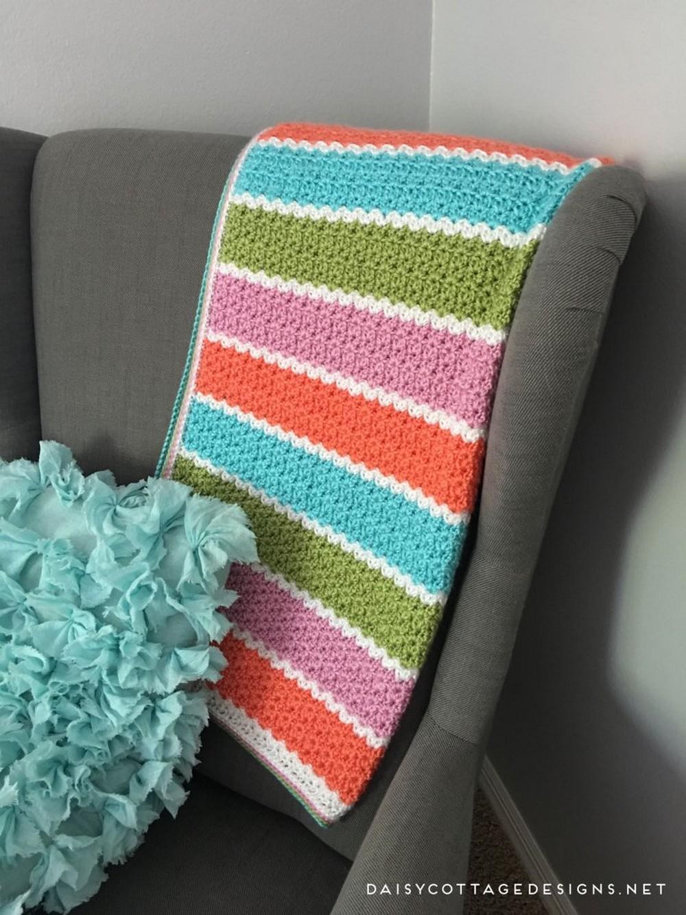 V-Stitch Crochet Blanket Pattern