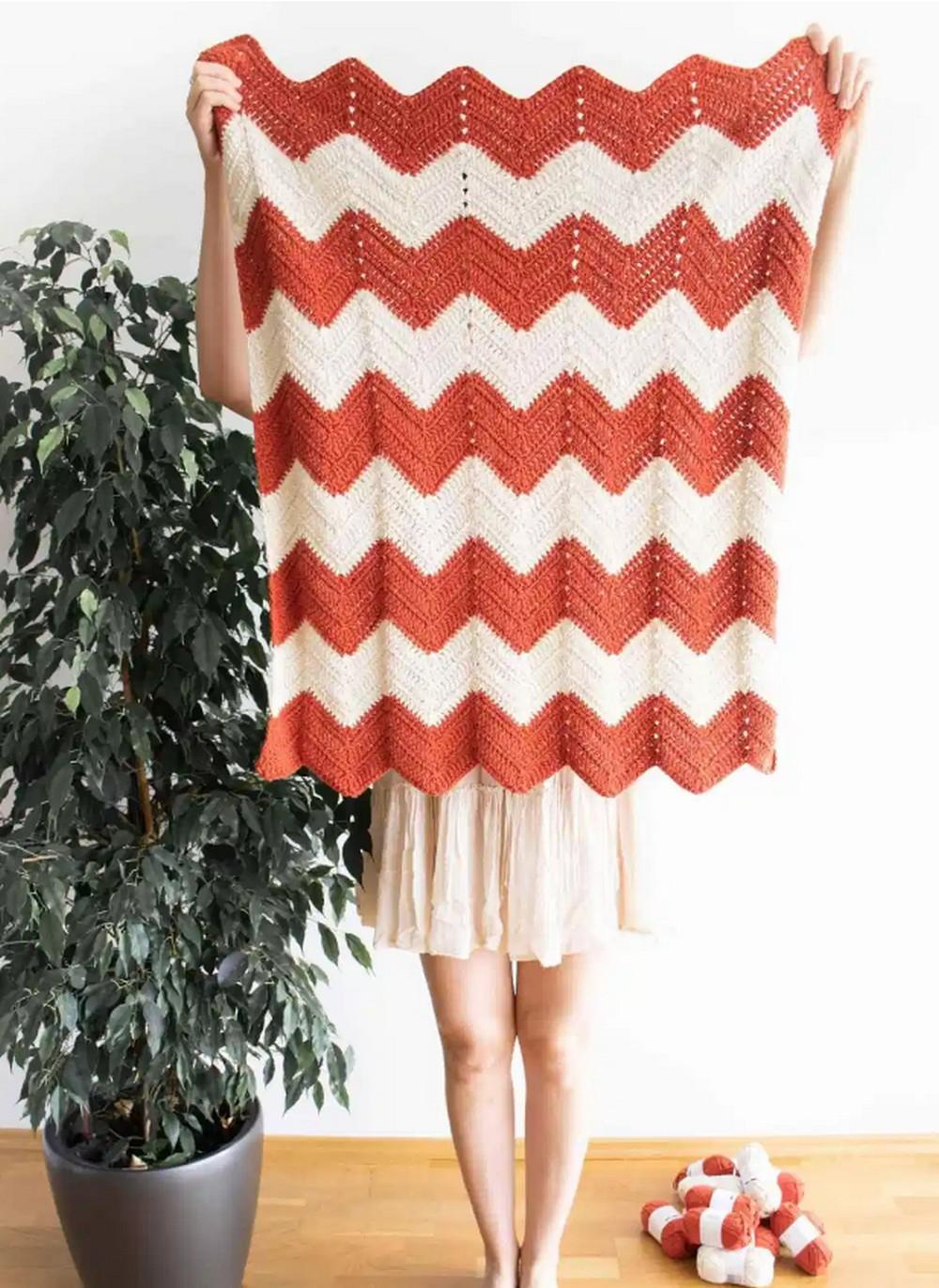 Zig-Zag Baby Blanket Pattern