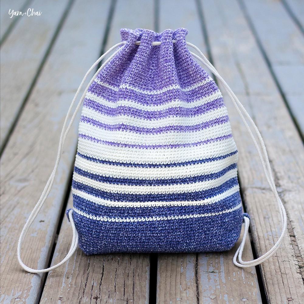 Crochet Fading Stripes Bag Pattern