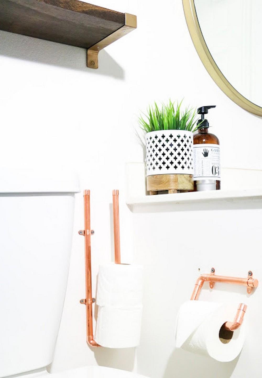 DIY It Copper Toilet Paper Holders