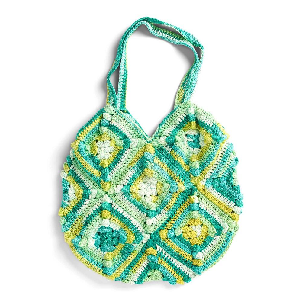Free Crochet Popcorn Square Tote Bag Pattern