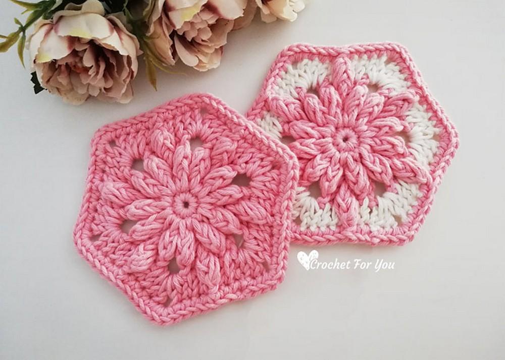 Crochet Flower Hexagon Pattern