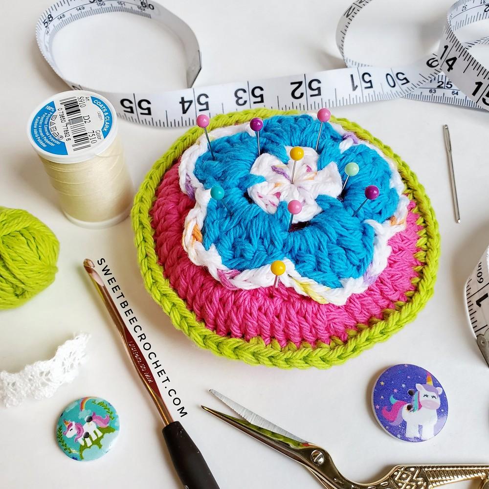Happy Flower Pin Cushion Pattern