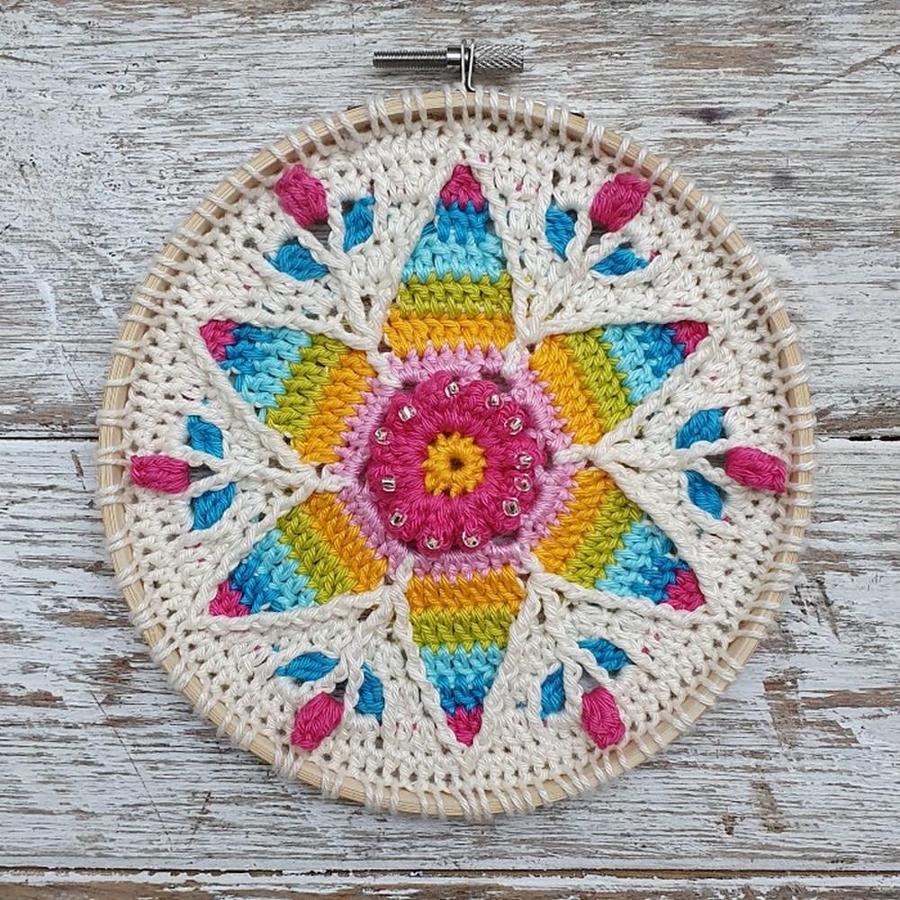 Free Crochet Fancy Nancy Mandala Pattern