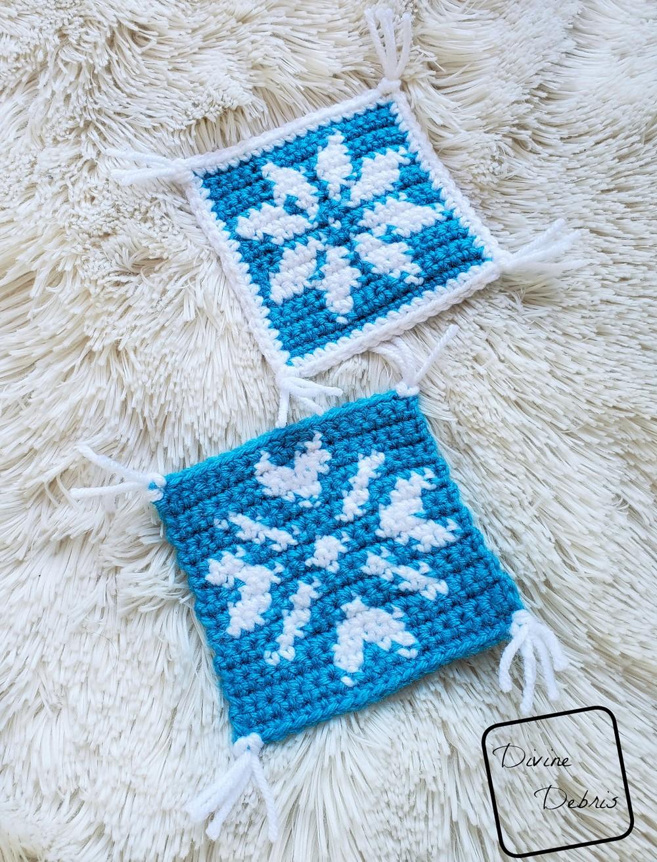 Crochet Cute Snowflakes Coaster Set Free Pattern