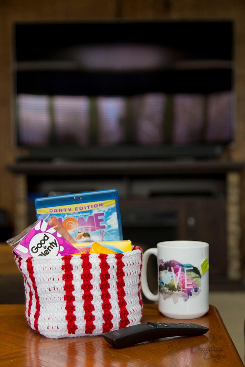 Free Crochet Movie Night Gift Basket