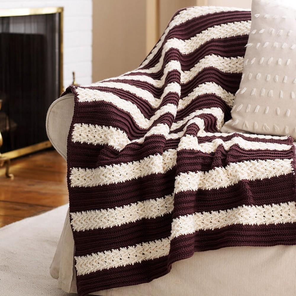 Crochet Herringbone Afghan Pattern