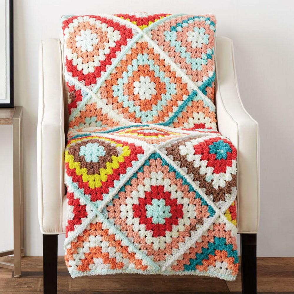 Crochet Random Granny Afghan Pattern