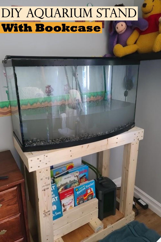 DIY Aquarium Stand With Bookcase