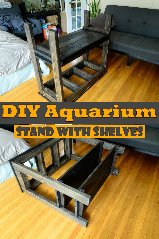 DIY Aquarium Stand With Shelves