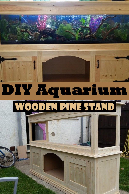DIY Aquarium Wooden Pine Stand