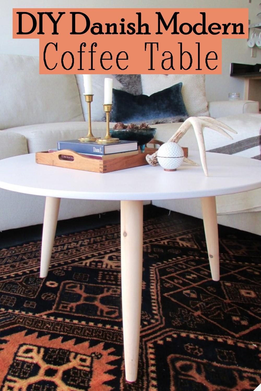 DIY Danish Modern Coffee Table