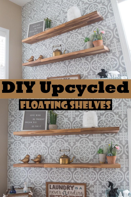 DIY Upcycled Floating Shelves