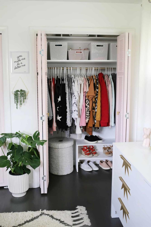 Easy Built In Closet