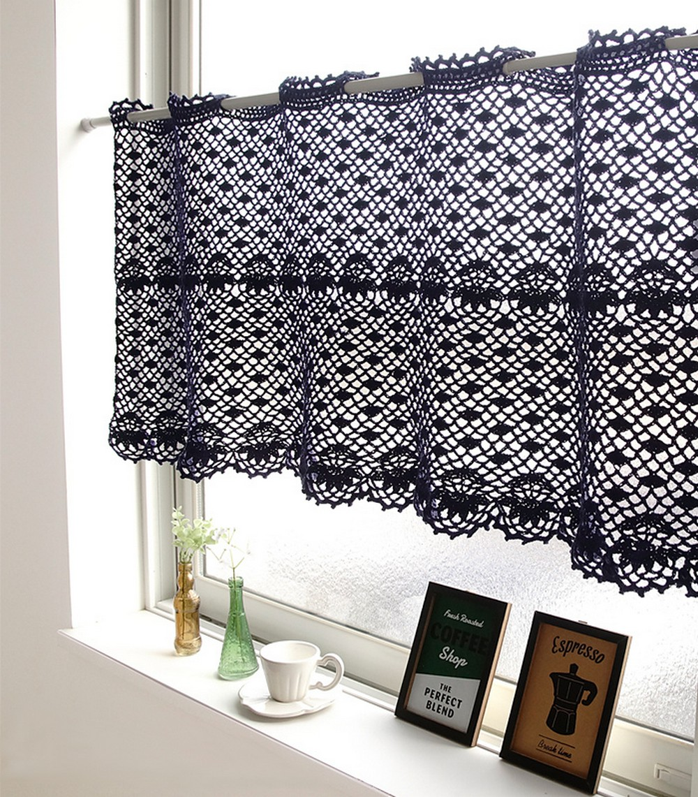 Free Crochet Curtain Cafe Curtain Pattern