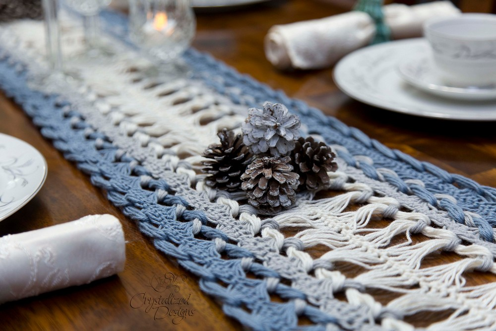 Free Crochet Hairpin Lace Table Runner Pattern