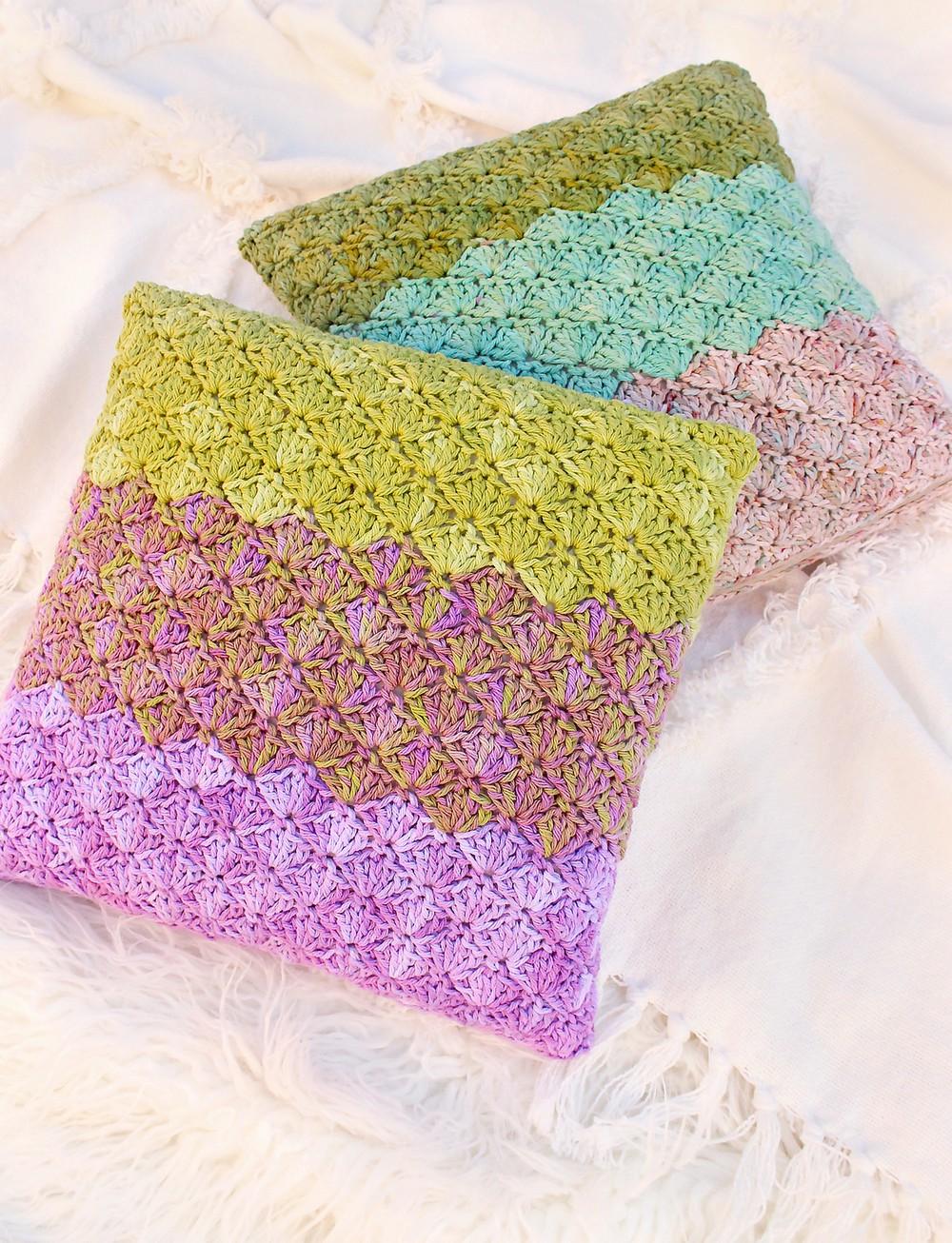 Free Crochet Mermaid Dreams Pillow Pattern