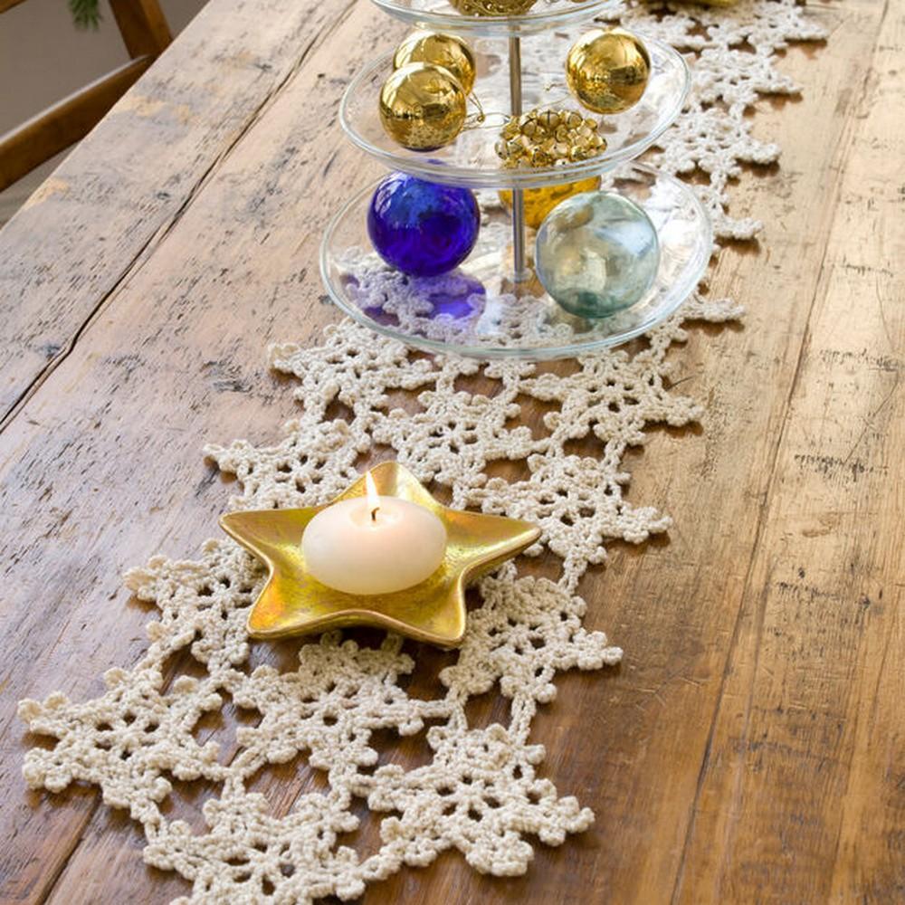 Free Crochet Snowflake Table Runner Pattern