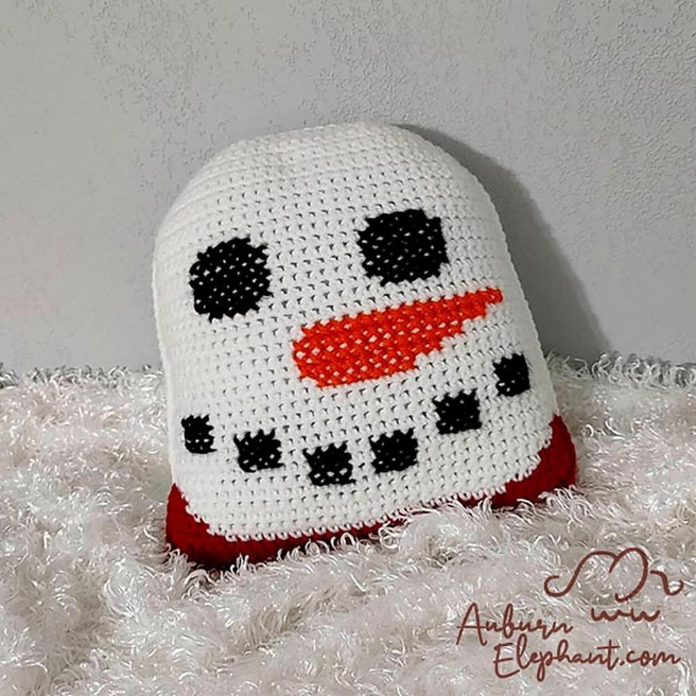 Free Crochet Snowman Pillow Buddy Pattern