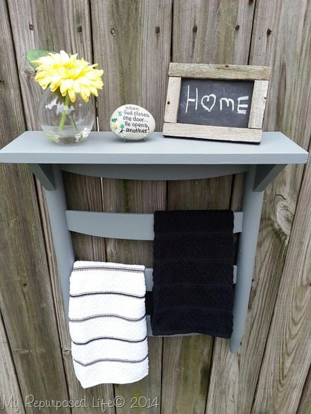 Chair Back Towel Rack DIY