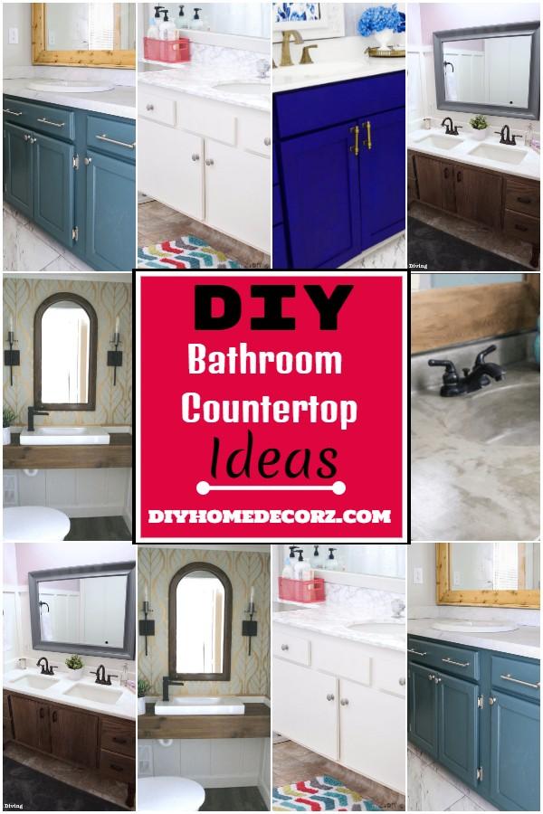 DIY Bathroom Countertop Ideas 1