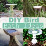 Cheap DIY Bird Bath Ideas Made From Recycled Material