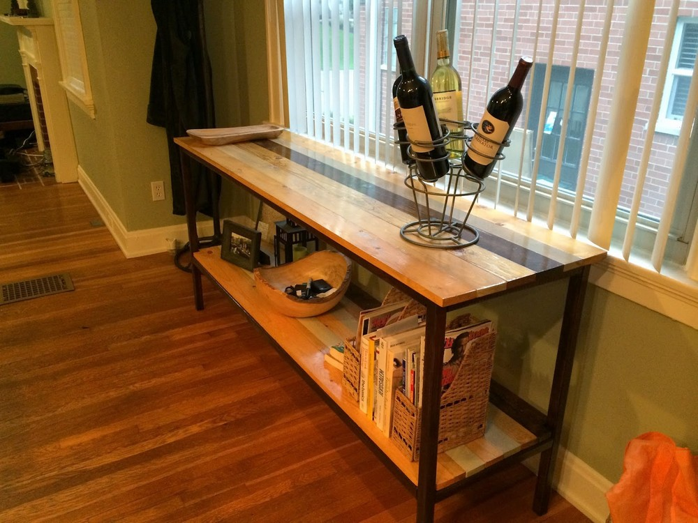 DIY Buffet End Table