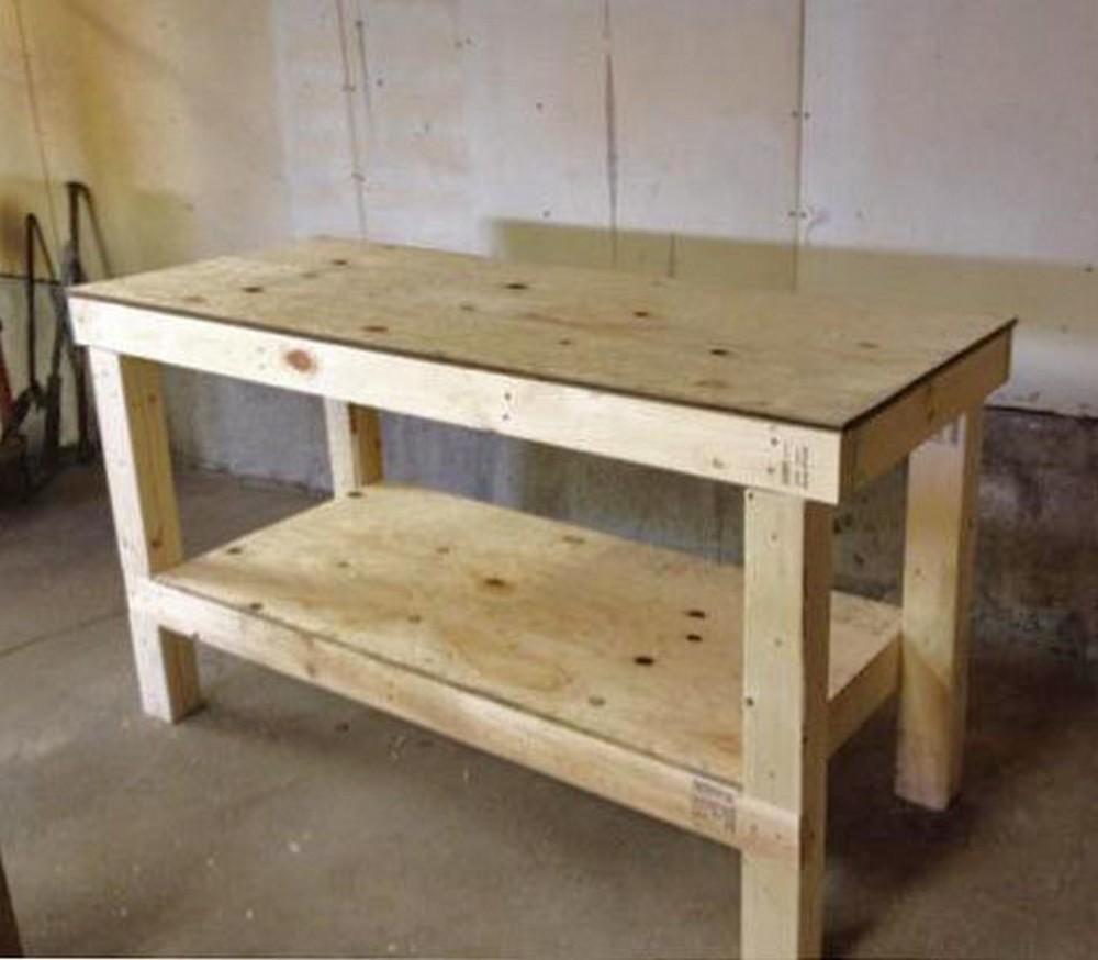 DIY Garage Workshop Workbench