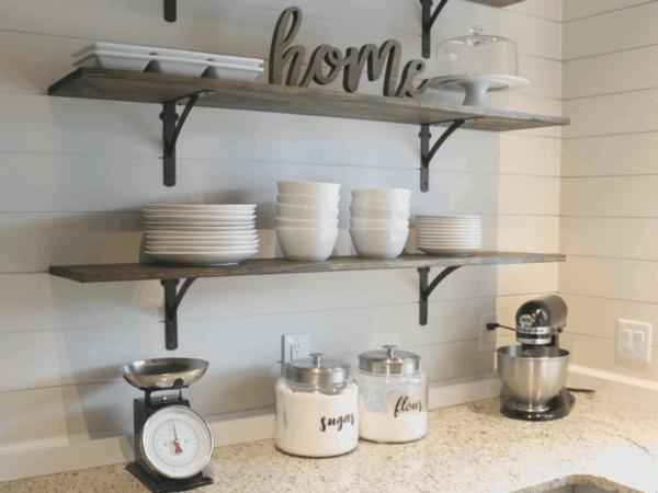 DIY Kitchen Shelves For Under $100