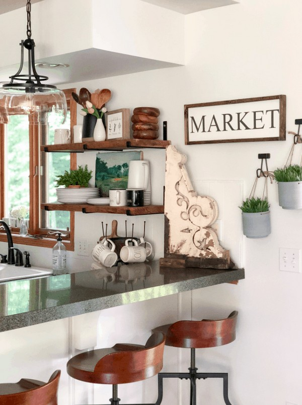 DIY Open Shelving Tutorial With Free Guide