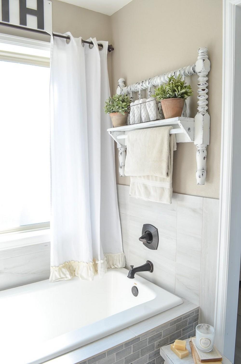 DIY Towel Bar Bed Frame