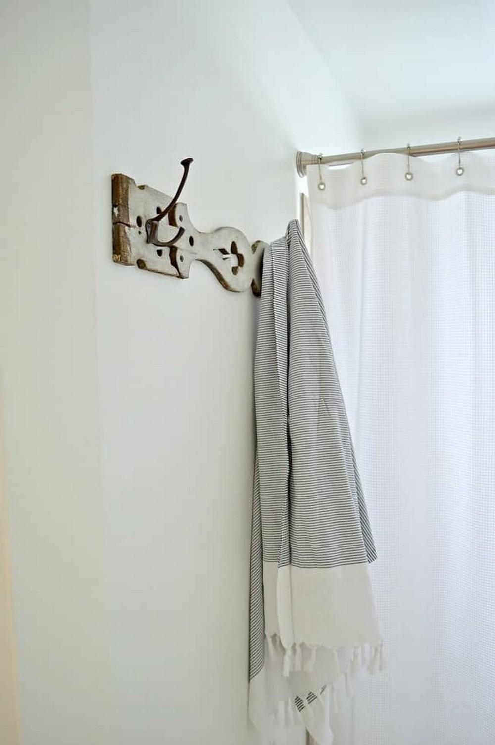 DIY Towel Holder For Bathroom