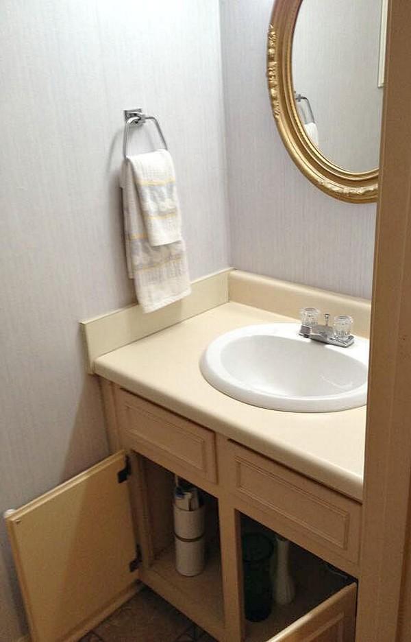 DIY Wood Bathroom Countertop