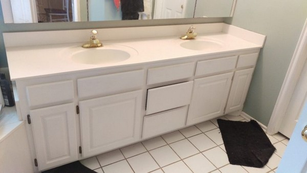 DIY Wooden Countertop For Your Bathroom