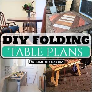 Easy DIY Folding Table Plans