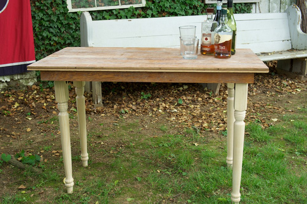 Folding Farmhouse Table From Reclaimed Wood