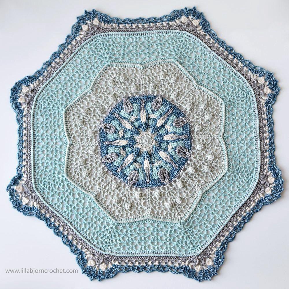 Free Crochet April Showers Mandala Mal Pattern