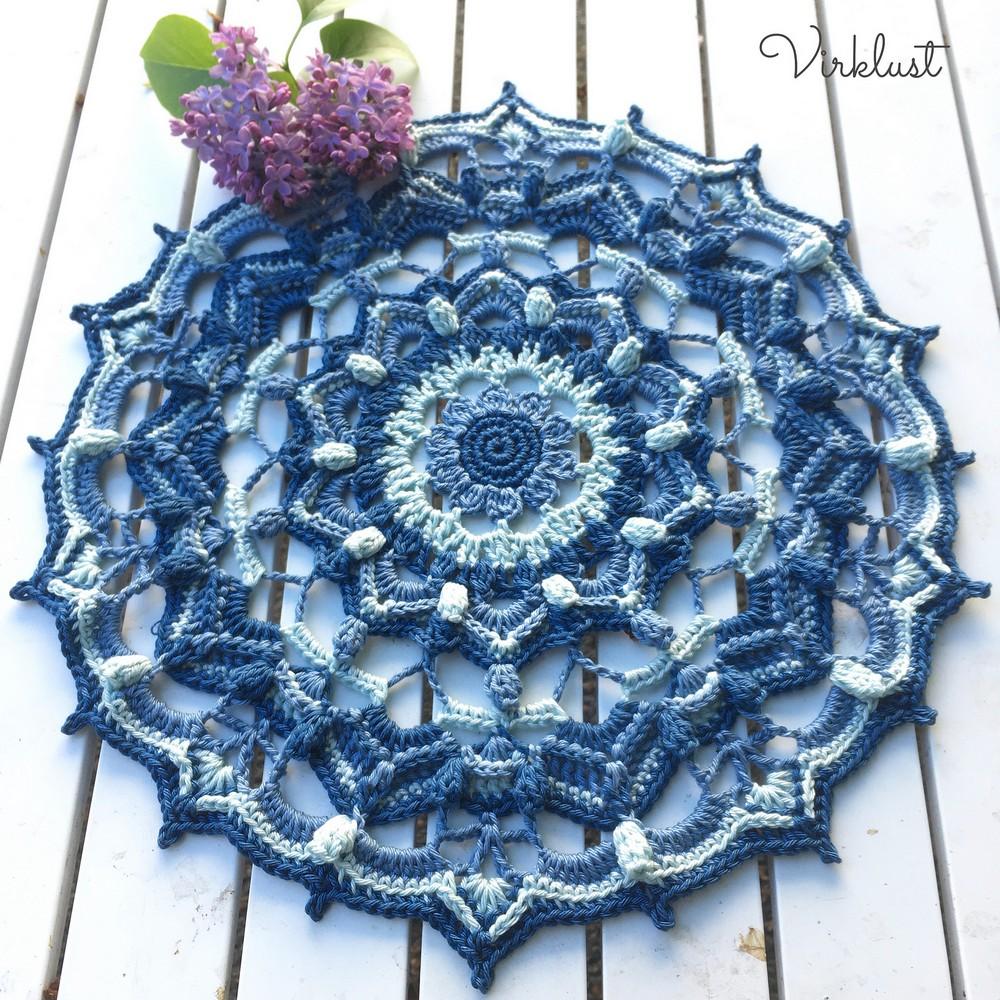 Free Crochet Blueberry Hill Mandala Pattern