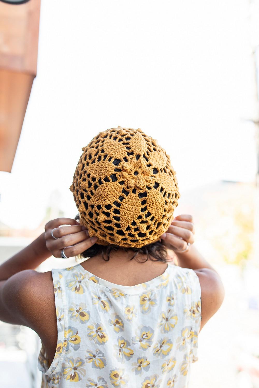Free Crochet Daisy Mandala Beanie Pattern